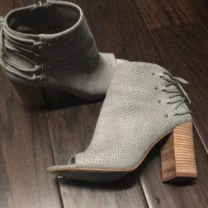 Nine West grey suede like material ankle boot